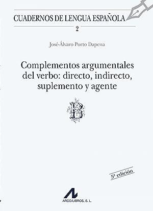 Complementos argumentales del verbo: Porto Dapena, José