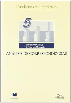 Análisis de correspondencias: Joaristi Olariaga, Luis/