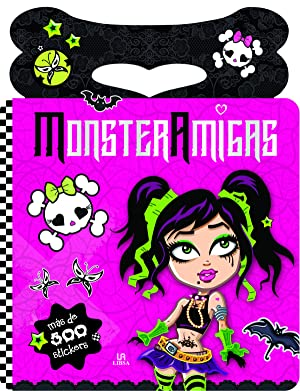 Monsteramigas-pegatinas y colorines