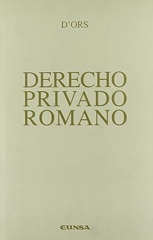 Derecho privado romano: Ors, Xavier d'