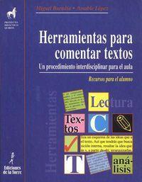 6.herramientas para comentar textos. alumno: Buendia, Miguel/Lopez, Amable