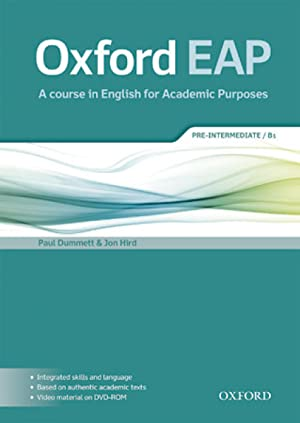 Oxford grammar for eap pre-int.(st+dvd).academic purposes: Vv.Aa.
