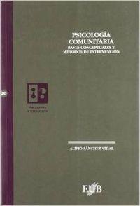 Psicologia comunitaria pe-20: Sanchez Vidal, Alipio