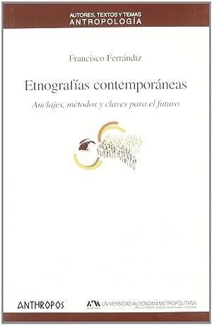 Etnografías contemporáneas: Ferrandiz, Francisco
