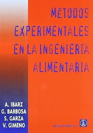 MÉtodos experimentales en la ingenierÍa de los: Vv.Aa.