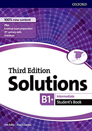 Solutions intermediate students third edition b1-b2