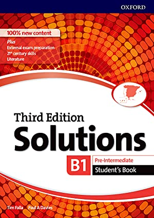 Solutions pre intermediate student's book third edition 2017 b1 b2