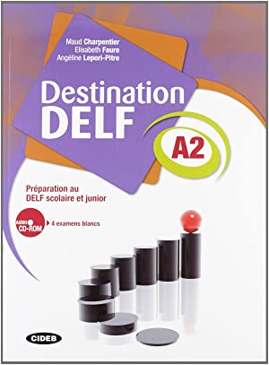 Destination delf A2 livre + cd rom: Charpentier, M.