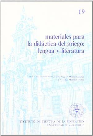 Materiales Para La Didactica Del Griego: Lengua: Marcos Perez, Jose