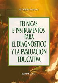 Tecnicas e instrumentos para el diagnostico y: Padilla Carmona, Maria