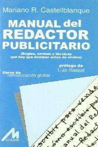 Manual del redactor publicitario: Castellblanque, Mariano R.