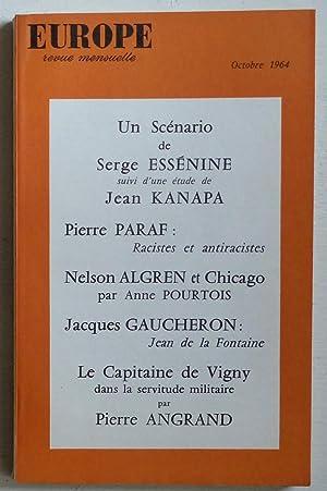 Revue Europe n°426: Essénine, Sergueï &