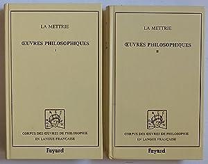 Oeuvres philosophiques [2 tomes]: La Mettrie (Julien