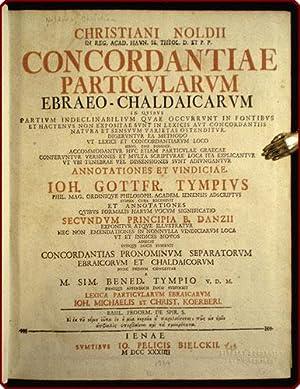 Concordantiae particularum Ebraeo-Chaldaicarum in quibus partium indeclinabilium quae occurrunt in ...