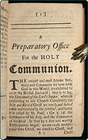 Officium eucharisticum. A preparatory service to a devout and worthy reception of the Lord's ...