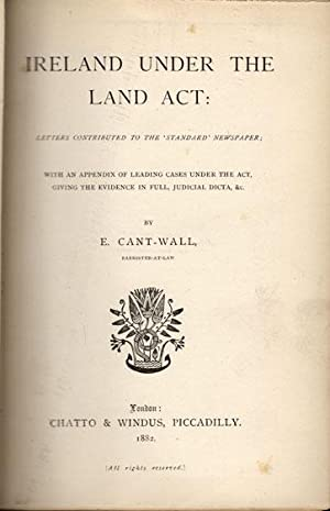 Ireland under the land act: letters contributed to the 'Standard' newspaper; with an ...