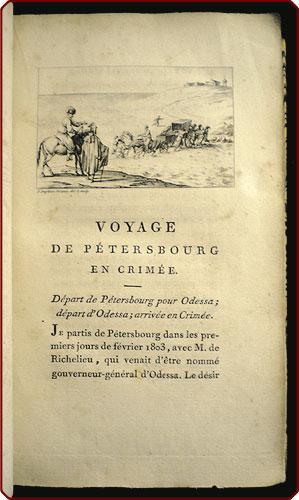 Voyage en Crim?e et sur les bords de la Mer Noire, pendent l'ann?e 1803; suivi d'un m?...