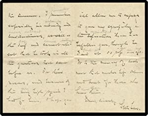 Autograph Letter Signed to Mrs. [Bayard?] Stockton.: Low, Seth.