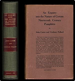 An enquiry in the nature of certain nineteenth century pamphlets.: Carter, John, & Pollard, Graham.