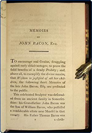 Memoirs of John Bacon, esq. R.A. with reflections drawn from a review of his moral and religious ...
