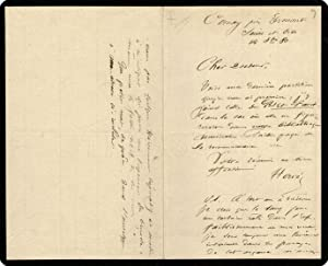 """Autograph Note Signed (?Herv?) to """"Cher Docteur,? in French.: Herv? [i.e., Louis Auguste ..."""