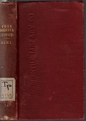 Four dissertations. I. The natural history of religion. II. Of the passions. III. Of tragedy. IV. ...