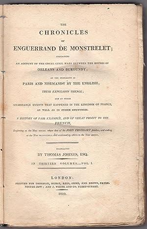 The chronicles of Enguerrand de Monstrelet.: Monstrelet, Enguerrand de.