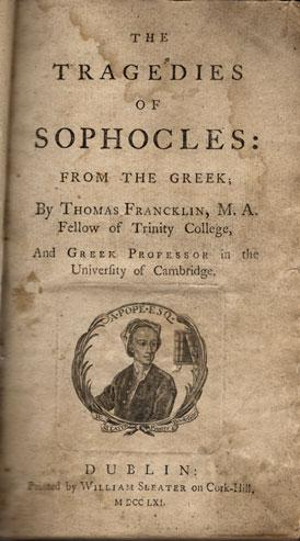 Tragedies of Sophocles: From the Greek.: Sophocles.
