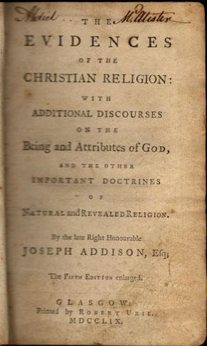 The evidences of the Christian religion: with additional discourses on the being and attributes of ...