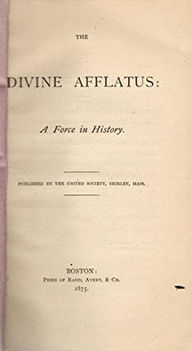 The divine afflatus: a force in history.: Fraser, Daniel.