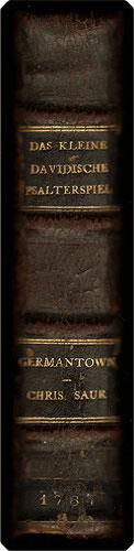 Das kleine Davidische Psalterspiel der Kinder Zions.: Bible. O.T. Psalms. German. Luther. 1764.