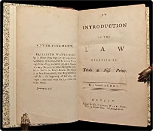 An introduction to the law relative to trials at nisi prius.: Buller, Francis, Sir, & Henry ...