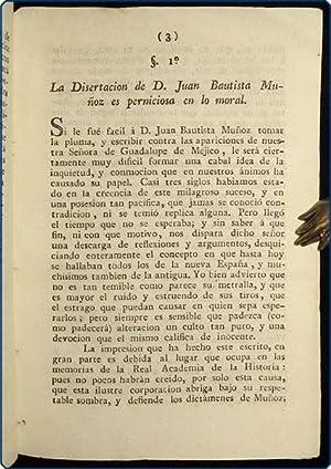 Defensa guadalupana . contra la disertacion de D. Juan Bautista Mu?oz.: Gomez Marin, Manuel.