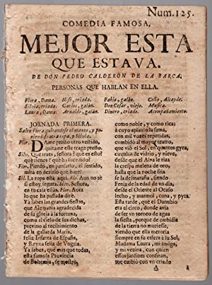 drop-title] Comedia famosa, Mejor esta que estava.: Calderon de la Barca, Pedro.