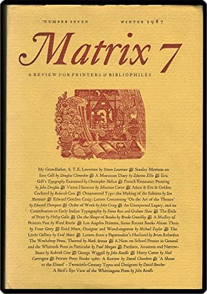 Matrix 7. Number seven, winter 1987.: Randle, John, & Rosalind Randle, eds.