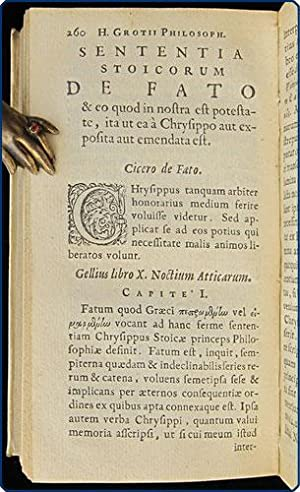 Philosophorum sententiae de fato, et de eo quod in nostra est potestate.: Grotius, Hugo.