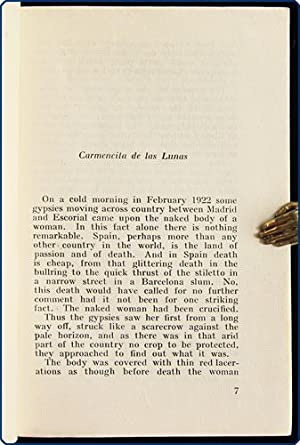 Thongs.: Lunas, Carmencita de las [pseud. of Alexander Whitelaw Robertson Trocchi].