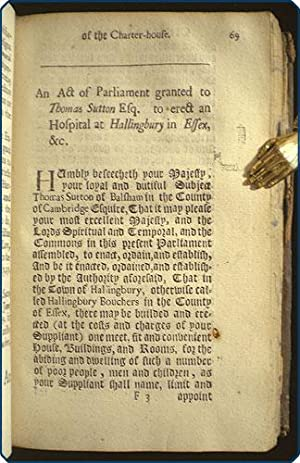 Domus carthusiana: Or an account of the most noble foundation of the charter-house near Smithfield ...