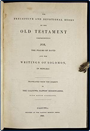 The preceptive and devotional books of the Old Testament comprehending Job, the Psalms of David and...