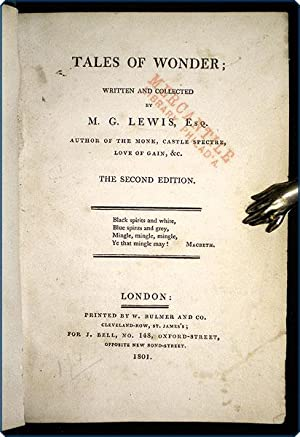 Tales of wonder.the second edition.: Lewis, Matthew Gregory (