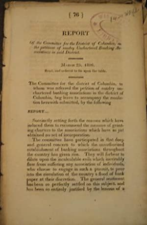 drop-title] Report of the Committee for the District of Columbia, on the petitions of sundry ...