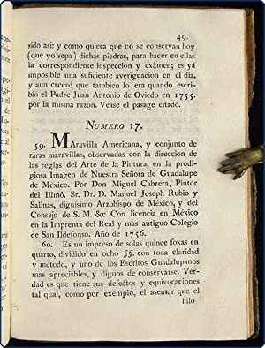 Manifiesto satisfactorio anunciado en la Gazeta de Mexico (Tom. I nm. 53) Opusculo guadalupano.: ...