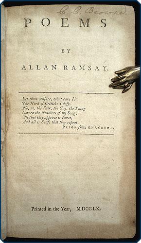 Poems.: Ramsay, Allan.