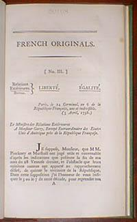French originals of all the documents, translations of which accompanied the message of the ...