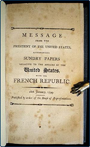 Message from the President of the United States, accompanying sundry papers relative to the affairs...