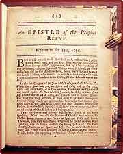 drop-title] An epistle of the prophet Reeve. Written in the year, 1656.: Reeve, John, & Lodowick ...