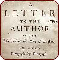 A letter to the author of the Memorial of the State of England, answer'd paragraph by paragraph...