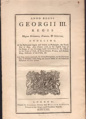 Anno regni Georgii III.undecimo. [An Act for Granting a Bounty upon the Importation of White Oak ...