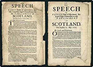 The speech of James Duke of Queensberry, &c. His Majesties high commissioner to the Parliament ...