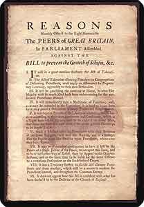"""Broadside. Begins: """"Reasons humbly offer'd to the Right Honourable the peers of Great ..."""
